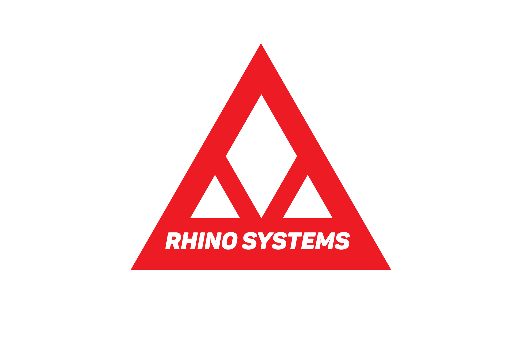The logo for a fictional South African defence company. The rhinoceros is a strong land mammal, and its front face was the inspiration for the triangle shape (itself a strong geometric shape) with the the rhombus representing the horn.