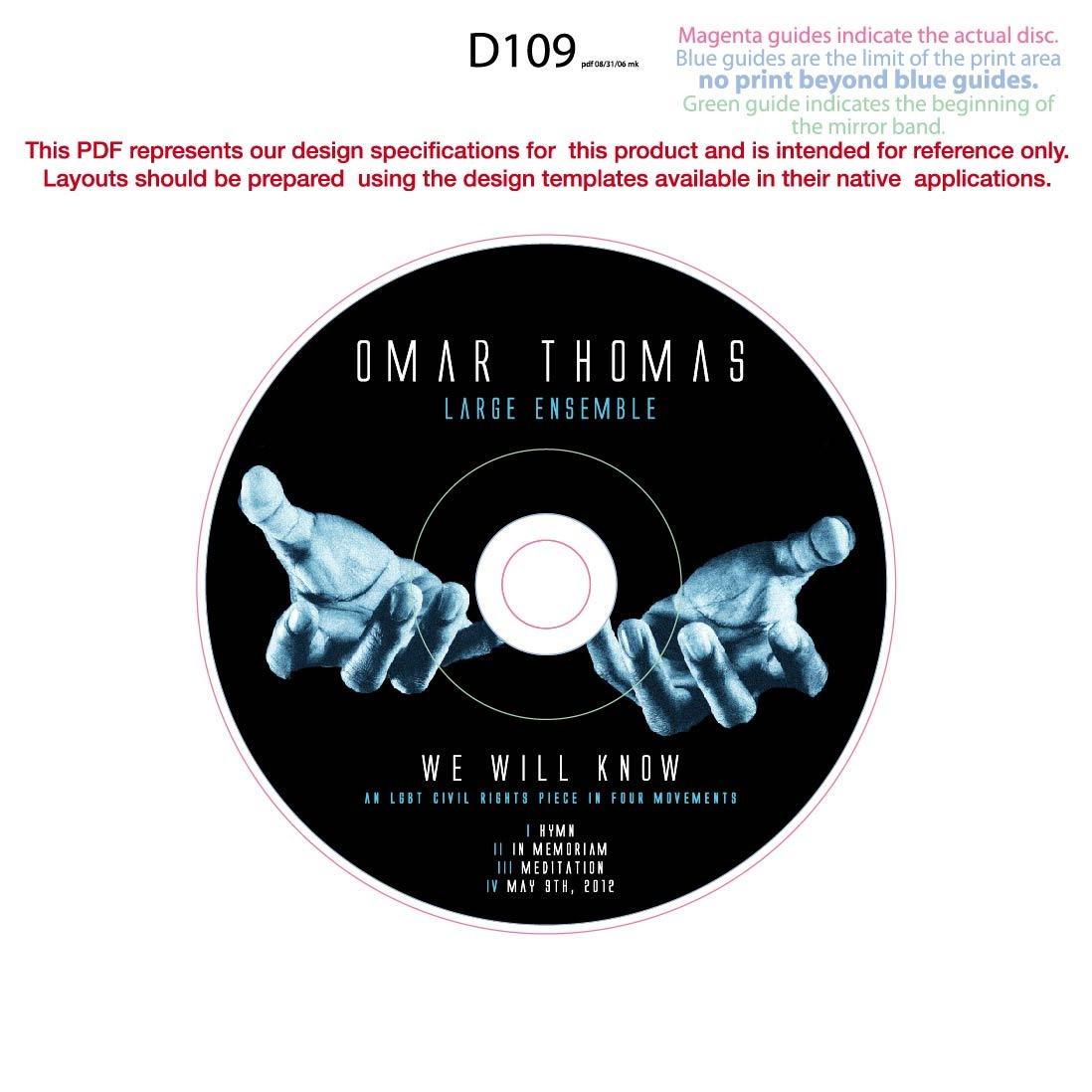 Omar Thomas Large Ensemble | CD Layout Design | James Bishai\'s Portfolio