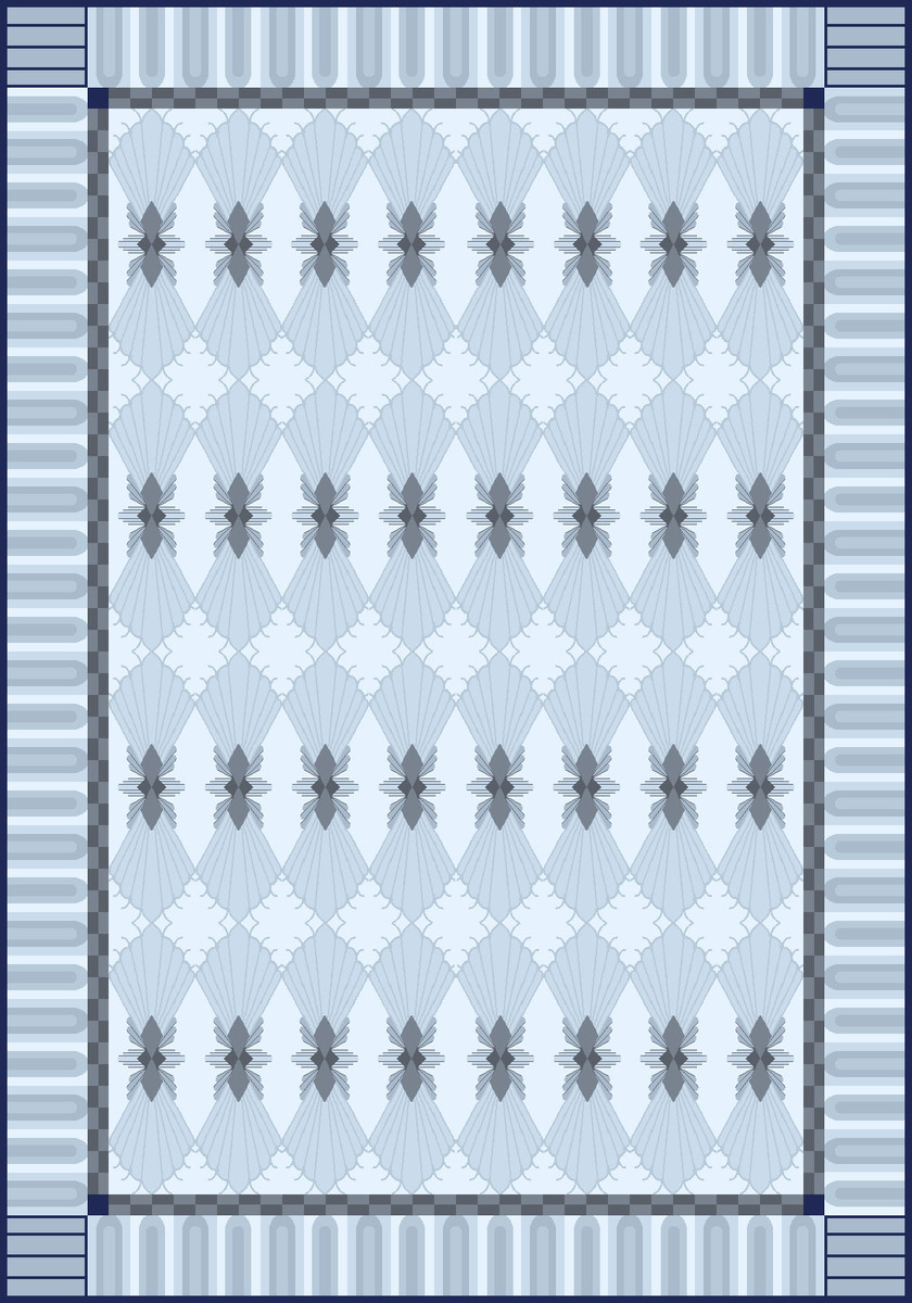 Art deco inspired handtufted rug design. 8'x10', created in NedGraphics.